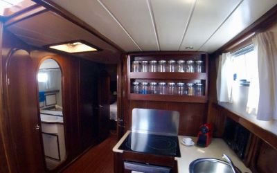 kitchen menorquin yacht by charterinad.com