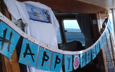 happy birthday on board with charterinad